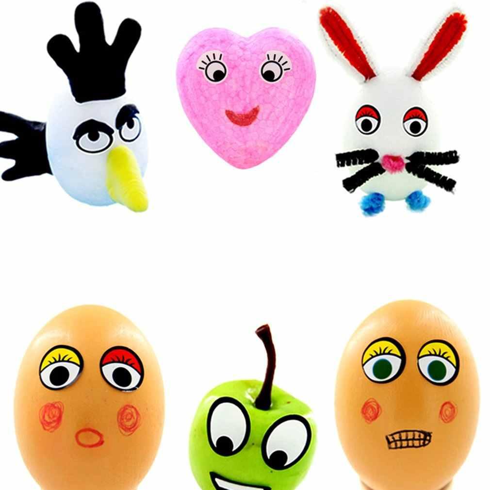 Pegatinas adhesivas de ojos para niños, pegatinas de Ojos de colores blanco y negro, hechas a mano, actividad, pegatinas creativas para ojos