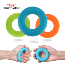WorthWhile Silica Gel Hand Grip Ring Men Women Gym Fitness Finger Heavy Exerciser Ball Strength Muscle Recovery Gripper Trainer