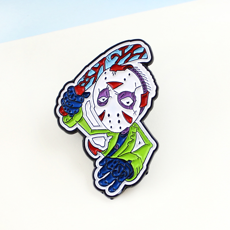 Japanese Style Cute Monster Villain Strawberry Cat Angry Girl Ghost Ketnipz Meme Black Friday Jason Pins Brooch Unique Creative Brooches Aliexpress