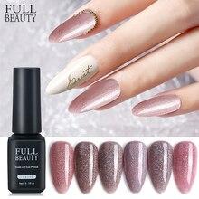 Full Beauty 6ML Sparking Glitter Nail Gel Polish Nude Pink Varnish Hybrid Soak Off Nail Polish Lacquer Manicure Designs CH1544