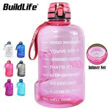 BuildLife 1,3 L 2,2 L 3,78 L Wasser Flasche Mit Locking Flip Flop Deckel Sport Gym Flaschen Fitness Sport BPA FREI Große Kapazität Krug