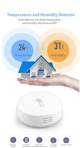 Image 2 - مستشعر درجة الحرارة والرطوبة الذكي اللاسلكي من زيجبي ، يعمل بالبطارية ، تطبيق Tuya Smart home عن بُعد