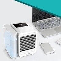 Mini ar condicionado portátil  ventilador pessoal  refrigeração  umidificação  verão  cooler