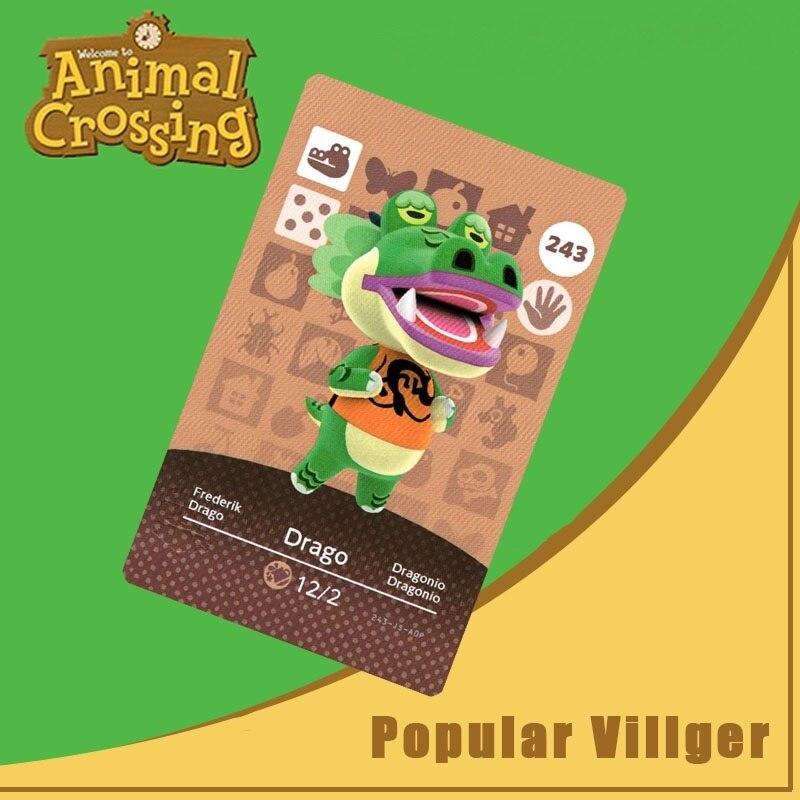 243 Animal Crossing Amiibo Card Drago Amiibo Card Animal Crossing Series 3 Drago Nfc Card Work For Ns Games Dropshipping