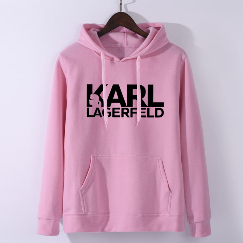 Karl Lagerfeld Fashion Printed Turtleneck Sweatshirt Women/Men Long Sleeve Casual Sweatshirt 2019 Hot Sale Streetwear Clothes