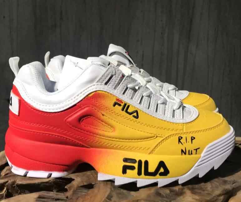 Fila Gold silver Running Shoes Men Breathable Disruptor II 2