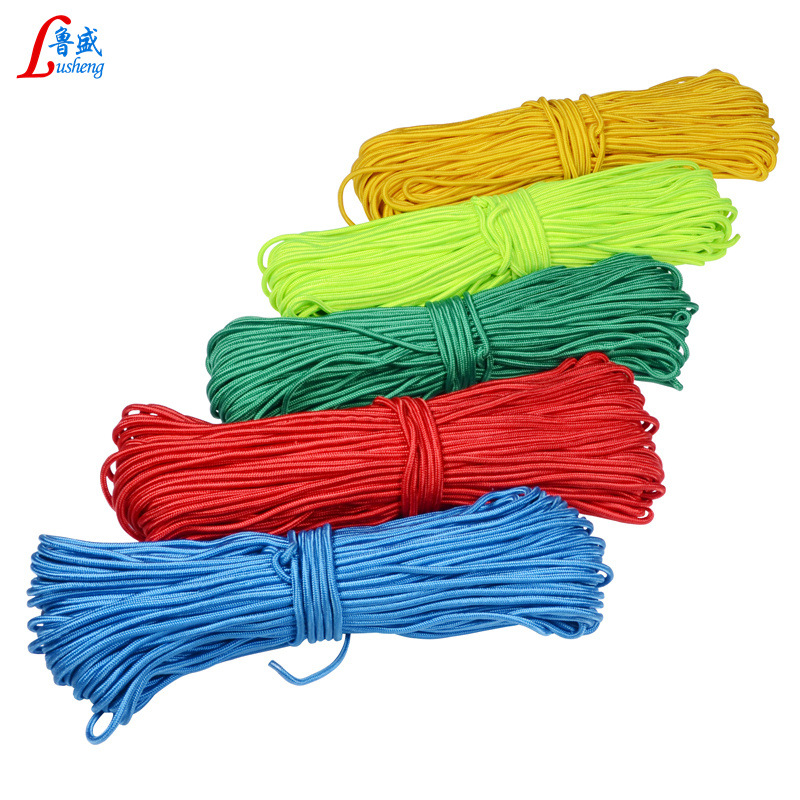 Nylon Rope Color Dacron Braided Rope Multi-functional Outdoor Binding Rope Clothesline Sub-Tent Rope Braided Rope