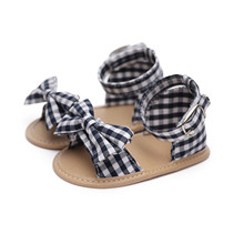 Summer Shoes Sandals Toddlers Soft-Sole Newborns Girls Baby Cute Plaid Cotton for 0-18m