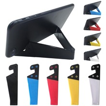 купить Universal V Shape Phone Tablet Stand Holder for iPhone iPad for Samsung for Smartphone Tablet Mount дешево