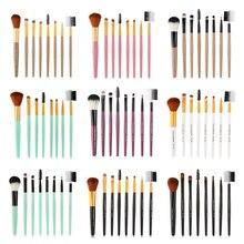 цена на 8 Pcs Makeup Brushes Kit Blush Eye Shadow Eyeliner Eyebrow Brush Makeup Brushes Set  Maquiagem Pincel Cosmetics Beauty Tool