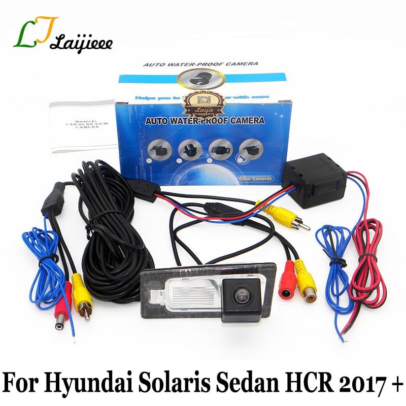 For Hyundai Solaris Sedan HCR 2017 2018 2019 / HD Night Vision Car Backup Reverse Camera / With Power Relay Auto Rearview Camera