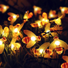 5m 7m  Solar Powered Lights Honey Bee Led String Lamp Light Outdoor Garden Fence Christmas Garland Lights Decorations discount