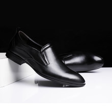 big size 50 Hand Made genuine leather Loafers Mens Dress Shoes men Wedding party Shoes slip on breathable Prom Shoes men a4(China)