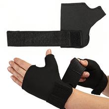 1 para miękka oddychająca regulowana pół rękawica silikonowa wsparcie Protector Sport uniwersalny nadgarstek dłoni kciuk opaska ochronna Wrap tanie tanio Dla dorosłych CN (pochodzenie) Polyester Palm Thumb