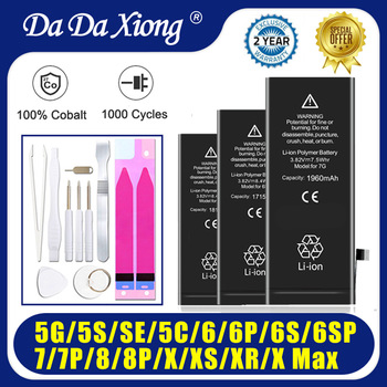 High quality 0 cycles battery for iphone 4 4S 5 5S 5C SE 6 6S 7 8 Plus X XR XS Max battery durable batteries For apple apple original earpods earphone md827 white for iphone 4 4s 5 5s se 6s plus