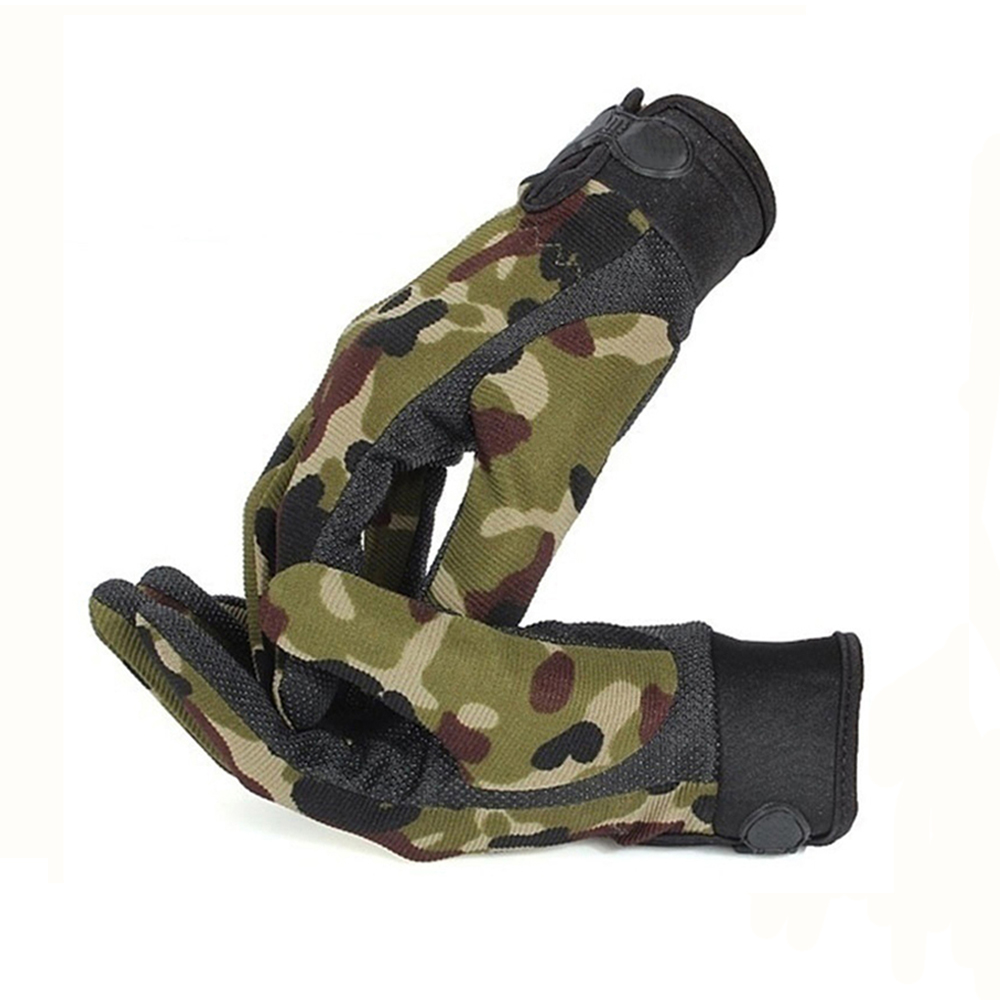 Men Sport Tactical Gloves Lightweight Breathable Army Camouflage Spring Summer Riding Gloves Non-Slip Full Finger Half Finger