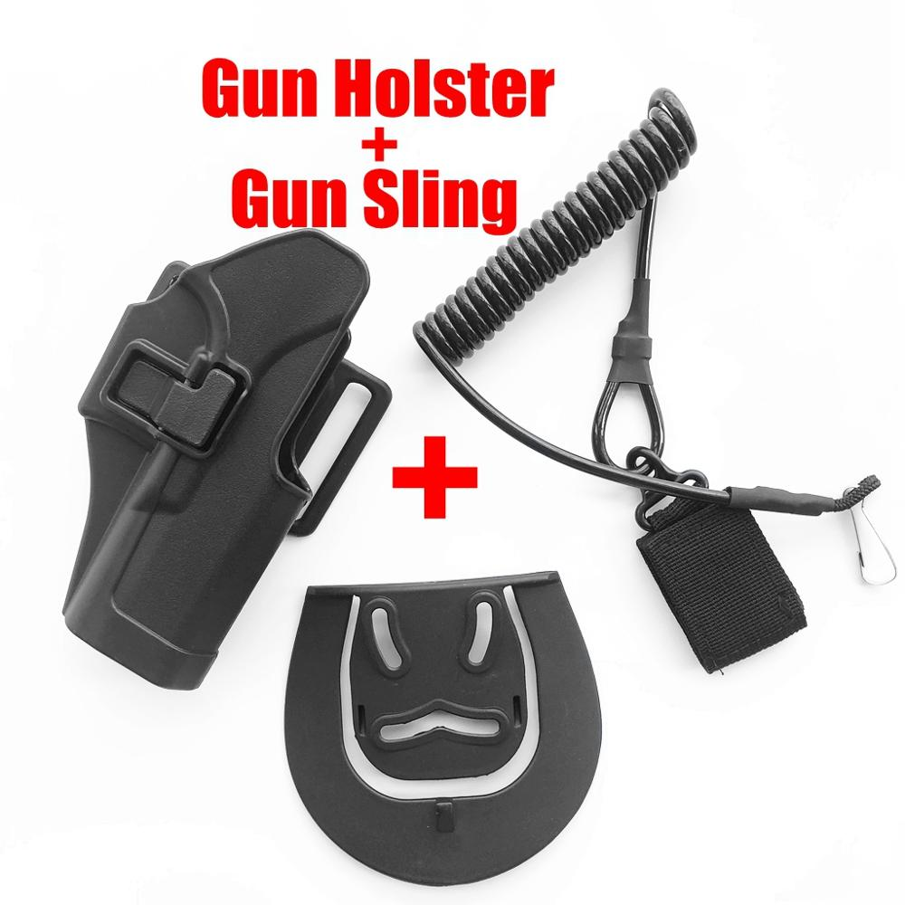 Glock 19 22 23 Gun Holster Tactical  Airsoft  Belt Waist Pistol  Holster Molle Platform Holster Adapter Glock 17 Mag Pouch