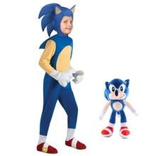 Роскошный звуковой костюм Ежика детский игровой персонаж косплей Хэллоуин костюм для детей