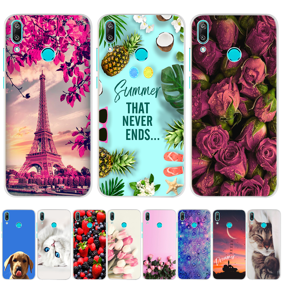 For Huawei Y7 2019 Case Silicone Cartoon TPU Cover Phone Case For Huawei Y7 2019 DUB-LX1 DUB LX1 LX2 LX3 Y 7 Prime Pro 2019 Case image