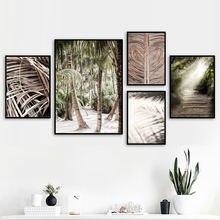 Мягкий светильник с листьями пальмы тенями дюны скандинавские