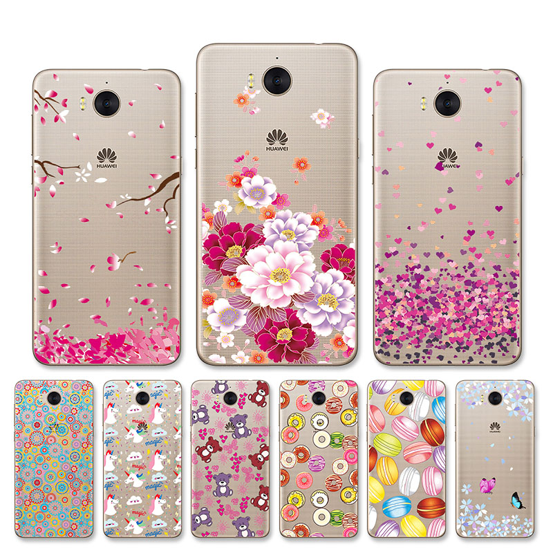 Soft TPU Case For Huawei Y5 2017 Case Cover Silicone Huawei Y6 2017 Mya-L22 Case Protector Case For Huawei Y6 Y7 Y9 2019 Bumper