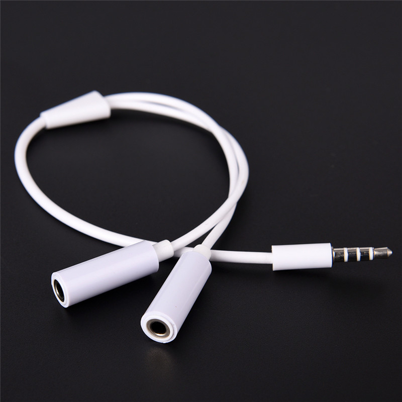 1 Male To 2 Dual Female Audio Cable 3.5mm 2 In 1 Splitter Cable For Earphone Headset Headphone MP3 MP4 Stereo Plug Adapter Jack