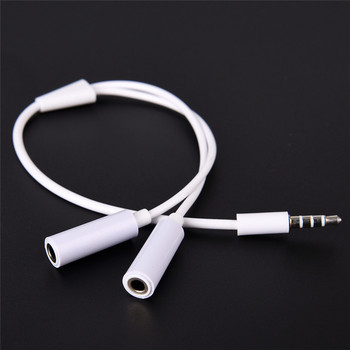 цена на 1 Male to 2 Dual Female Audio Cable 3.5mm 2 in 1 Splitter Cable For Earphone Headset Headphone MP3 MP4 Stereo Plug Adapter Jack