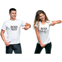 T Shirt Plus Size Tops BOSS MAN LADY Couple Clothes Tshirt Women T-shirt Men  Tee Femme Streetwear Funny XS-3XL