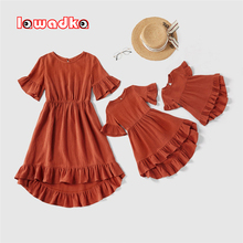 Lawadka Family Look New Summer Family Matching Outfits Clothes Mommy and Me Dresses Mother and Daughter Dress Matching Clothing