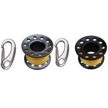 Набор из 2 намоток с зажимом из нержавеющей стали для подводного плавания 2 цвета