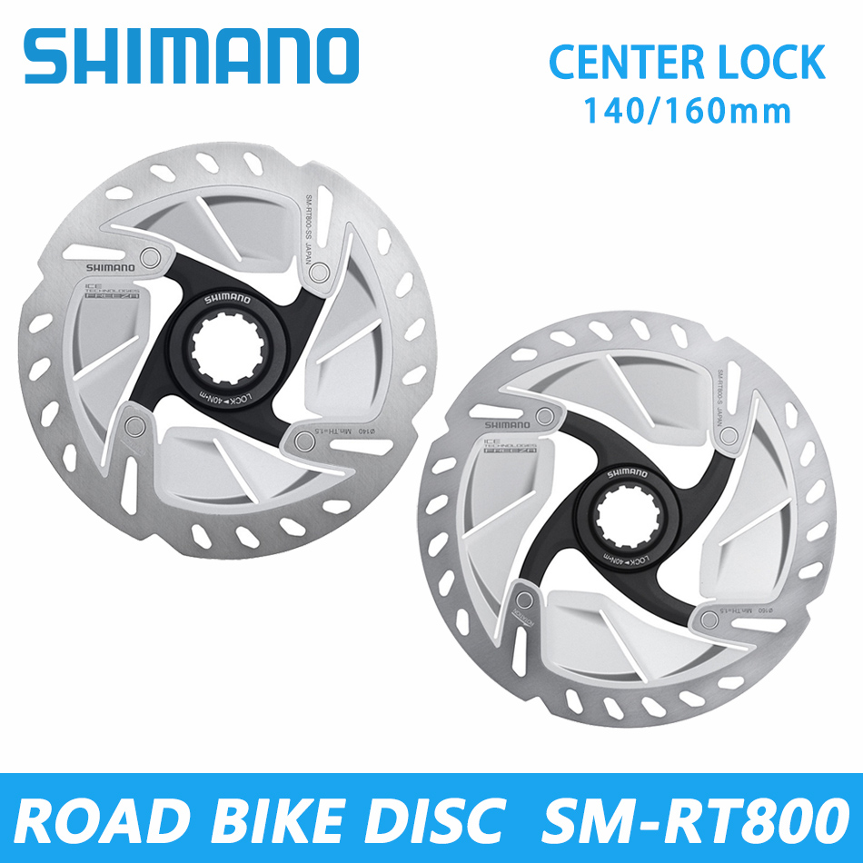 SHIMANO RT-MT800 SM-RT800 MTB/Road Bicycles CENTER Lock Rotor 140/160/180/203mm SM-RT86 Mountain Bike Six Bolt Disc Rotor