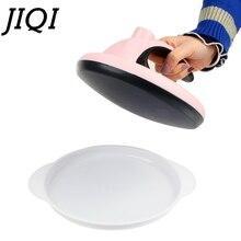 JIQI, мини антипригарная блинница, мини автоматическая электрическая многослойная форма для выпечки торта, пирога, Весенняя форма для яиц, блинная машина, ЕС, США, вилка