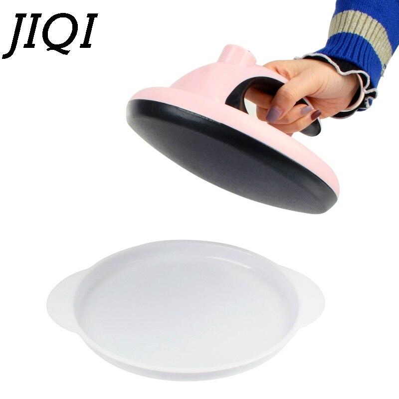 JIQI Mini Nonstick Crepe Maker Mini Automatic Electric Multilayer Cake Pie Baking Pan Spring Egg Roll Pancake Machine EU US Plug