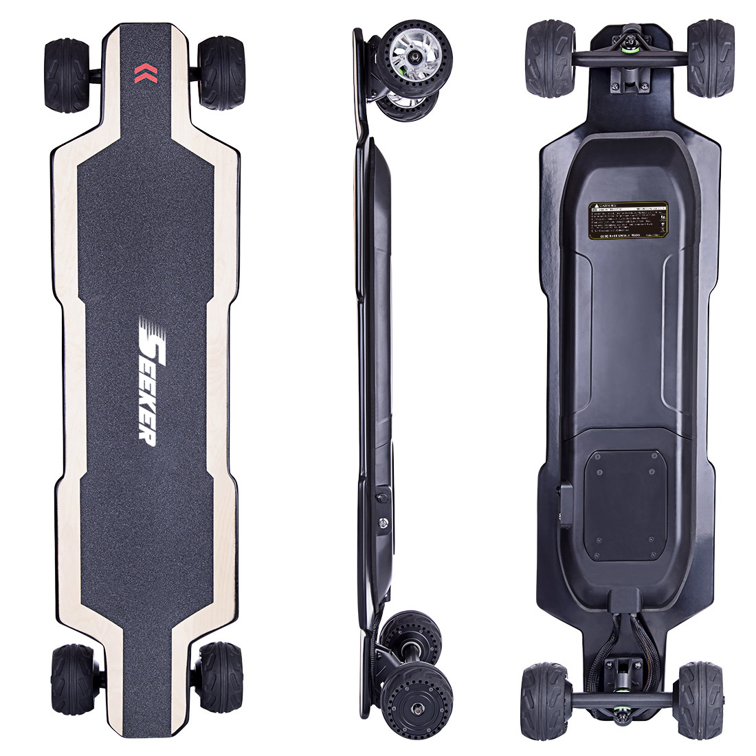 SEEKERS BRT-01 4-wheel Electric Skateboard - AU Plug
