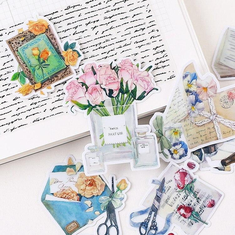 20PCS Fresh Creative Furniture Paper Stickers Crafts And Scrapbooking Stickers Book Decorative Sticker DIY Stationery