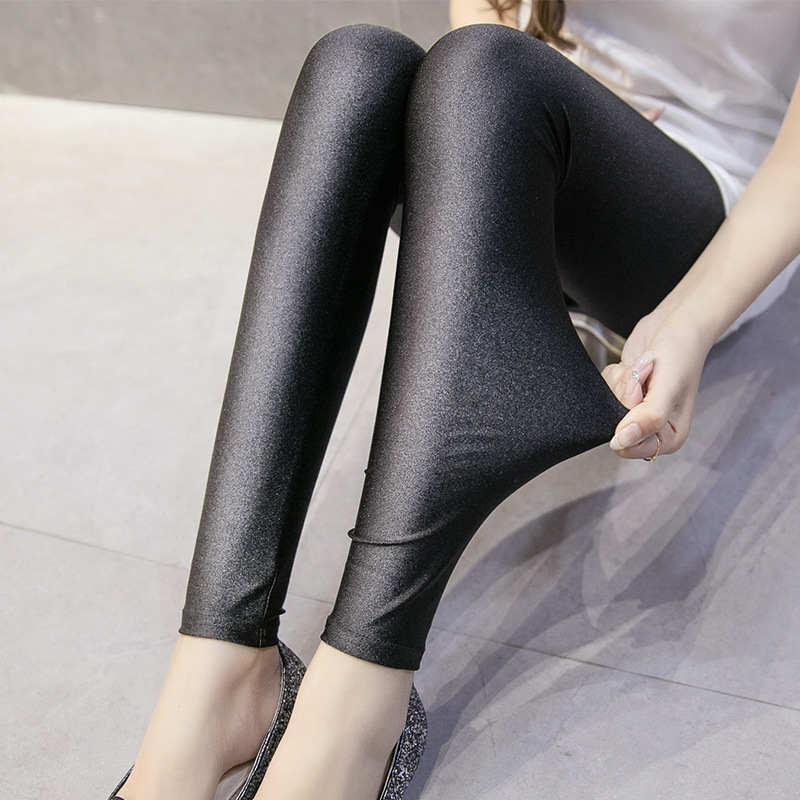 B115 Autumn And Winter New Style Plus sized Ankle length Leggings Outerwear Slimming Pants Sub Korean style WOMEN 39 S Shiny Pants in Leggings from Women 39 s Clothing