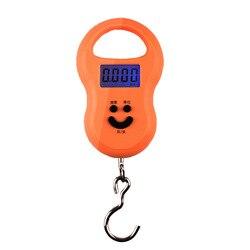 Цифровые Мини-весы для рыбалки, багажа, путешествий, 50 кг х 10 г, подвесные портативные электронные весы с крючком для кухни