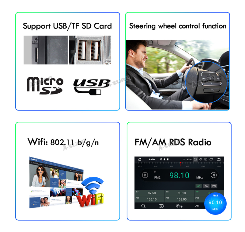 """Android 9 VW Polo Golf Passat Caddy Transporter 9""""Voll IPS 8 Core GPS DAB + WIFI 4G 58"""