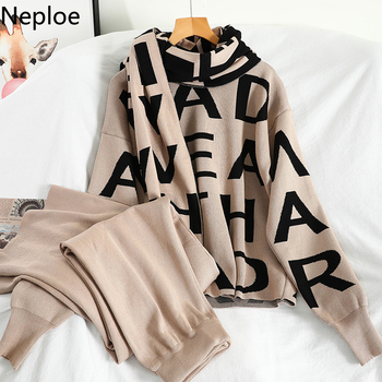 Neploe Fall Clothes for Women 2 Piece Sets Womens Outfits Korean Fashion Temperament Knitted Suit Female Two Piece Set  4F080 1