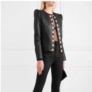 Image 3 - Heißer Gut Frau Mäntel Echtem Leder 2019 Mode Schaffell Leder Mantel Weiblichen Jacken Einreiher Echtes Leder
