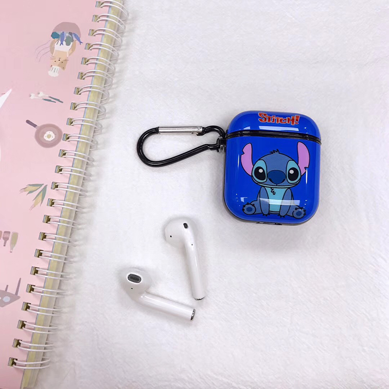 Image 4 - Hot Painted Stitch Soft Silicone Wireless Earphone Charging Cover Bag for Apple AirPods 1 2 cute bear Bluetooth Box Headset case-in Earphone Accessories from Consumer Electronics