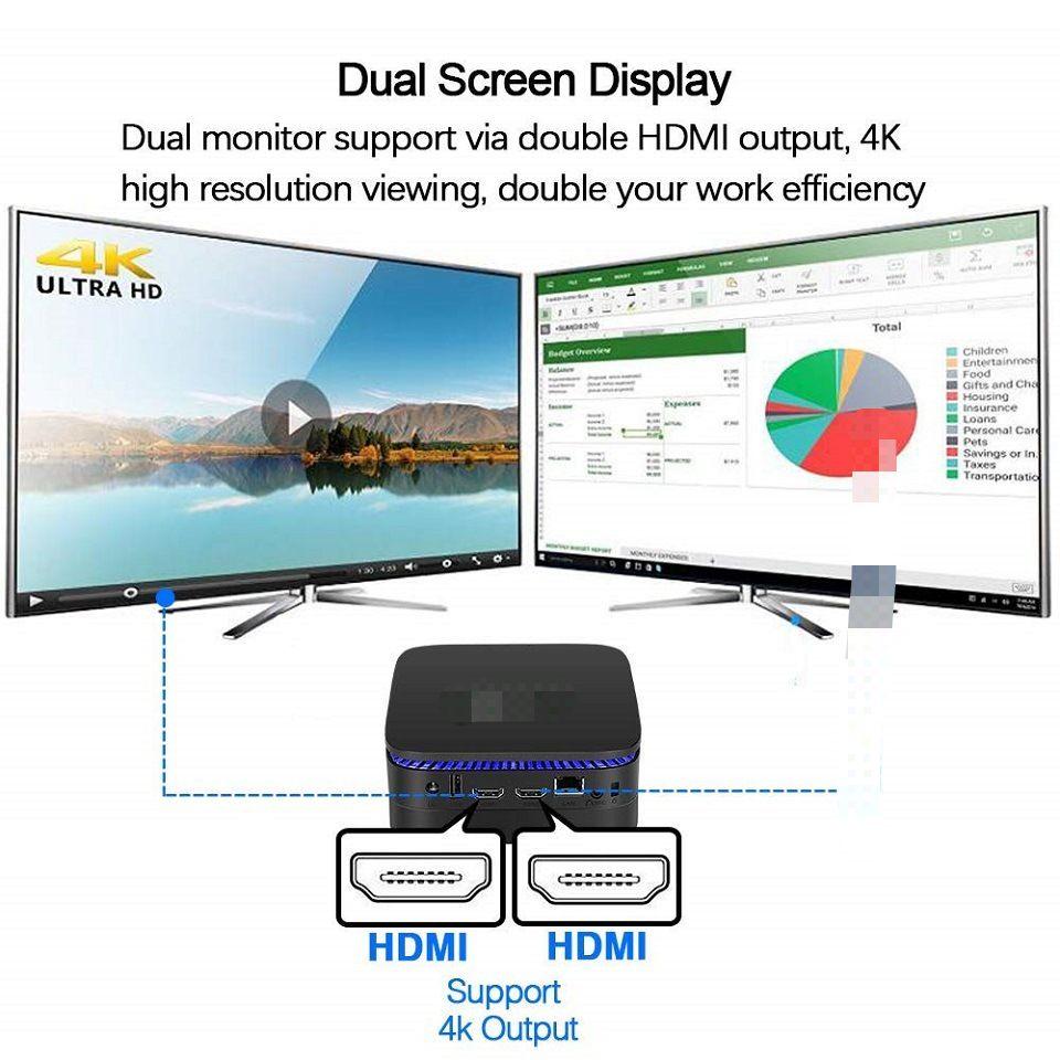 AK1 In Set Top Box Apollo Lake Celeron Win10 J3455 4GB 32GB BT4.0 2.4G/5.8G WIFI 4K TV Box Support 2.5''HDD