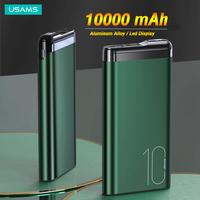 USAMS Powerbank 10000mah Mini Battery Powerbank For Xiaomi Huawei Iphone 12 pro Max 11 8 Xiaom Huawei Samsung USB Type C External Battery Power Bank