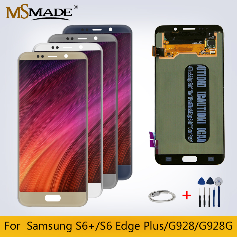 <font><b>Original</b></font> For <font><b>Samsung</b></font> Galaxy <font><b>S6</b></font> <font><b>Edge</b></font> Plus LCD G928 G928F <font><b>S6</b></font>+ LCD <font><b>Display</b></font> Touch Screen Digitizer Replacement Parts image