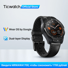 TicWatch Pro Smart Watch Men's Watch Wear OS by Google for iOS Android NFC Payment Built in GPS Waterproof Bluetooth Smartwatch