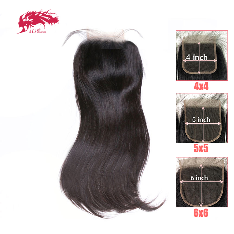 HD Transparent 4x4/5x5/6x6 Lace Closure Brazilian Straight Remy Human Hair 10