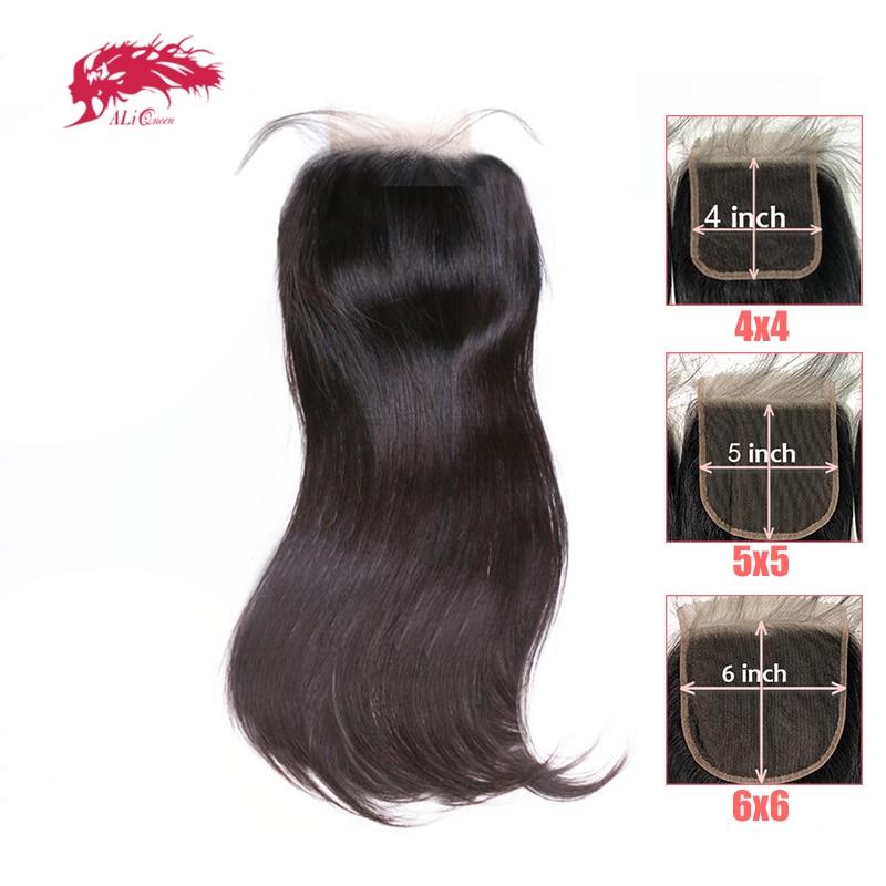 HD Transparent 4x4/5x5/6x6 Lace Closure Brazilian Straight Remy Human Hair 10