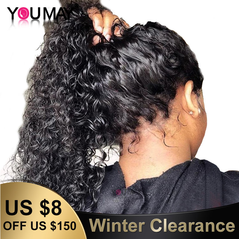 Full Lace Human Hair Wigs Pre Plucked Fake Scalp Glueless Brazilian Deep Curly Transparent HD Full Lace Wig For Women You May