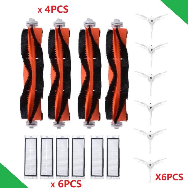 16PCS Vacuum Cleaner Brush Hepa Filter Side Brush For Xiaomi Roborock S50 S51 MI Robot Vacuum Cleaner Parts Accessories