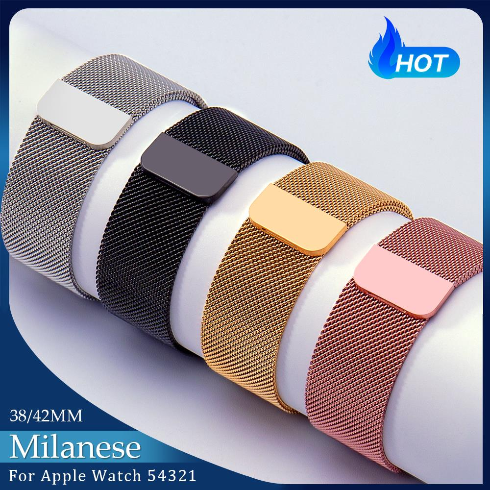 רצועת לולאה milanese עבור אפל שעון הלהקה 44mm 40mm 42mm 38mm iwatch חגורה צמיד correa